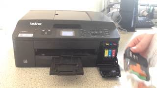 How to change a ink cartridge on a ink jet brother printer(Hi guys. Just another quick how to video. Like and subscribe to our channel for more quick and easy how to videos. Thanks for watching., 2014-08-31T01:56:55.000Z)