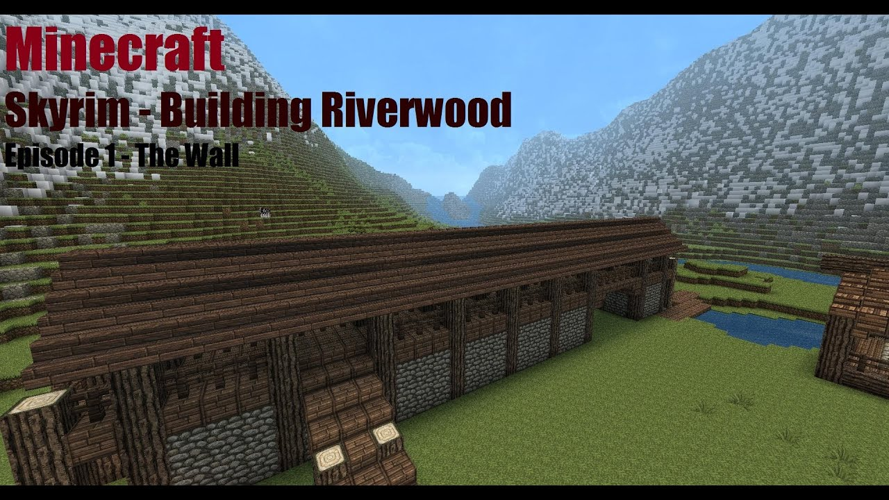 Minecraft skyrim building riverwood episode 1 youtube for Best house designs skyrim