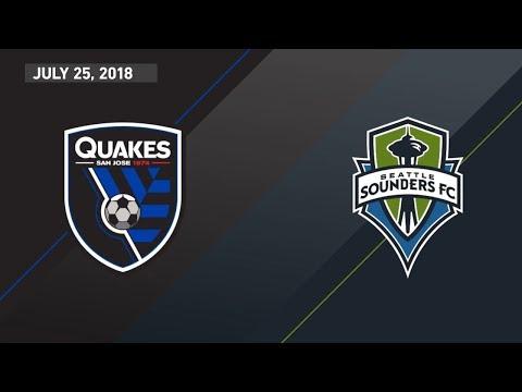 HIGHLIGHTS: San Jose Earthquakes vs. Seattle Sounders FC   July 25, 2018