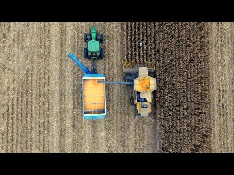 Rhea Farms Harvest 2015 Arlington Nebraska by @ Nebraska drone
