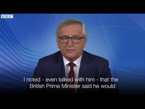 EU Referendum  Jean Claude Juncker on divorce   BBC News