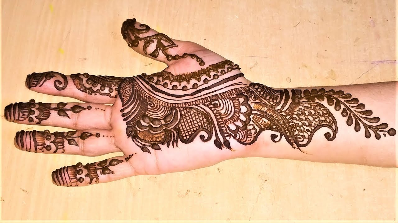 Mehndi Designs 2018 New Style Simple Front Hand