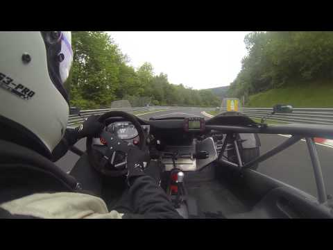 Ariel Atom follow FERRARI 458 speciale on Nurburgring full lap