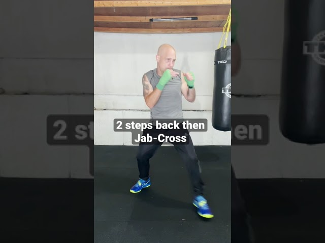 Super basic beginner boxing footwork and punching drill