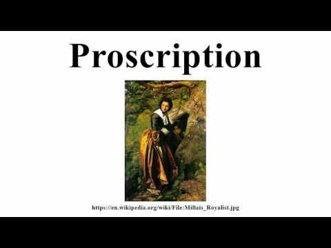 Proscription