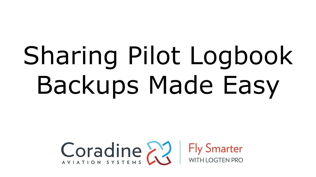 447bd9d45cb LogTen Pro  Sharing Pilot Logbook Backups Made Easy - YouTube
