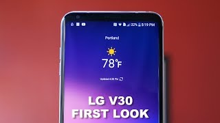 LG V30 First Look