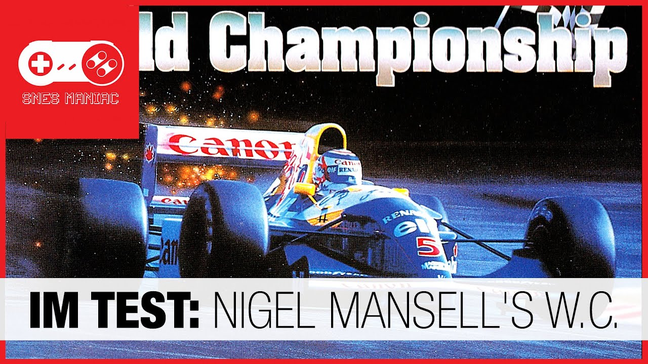 IM TEST: Nigel Mansell's World Championship [Super Nintendo SNES Review - german/deutsch]