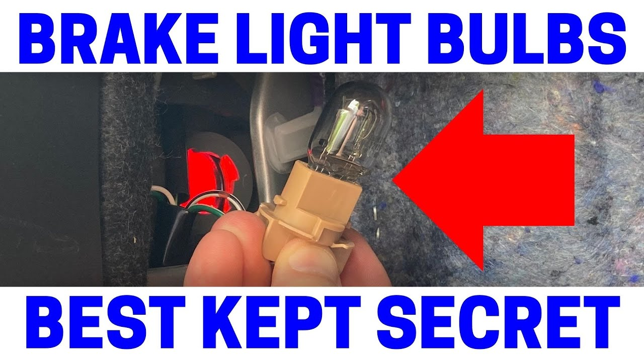 How To Replace Toyota Camry Rear Brake Light Bulbs Youtube