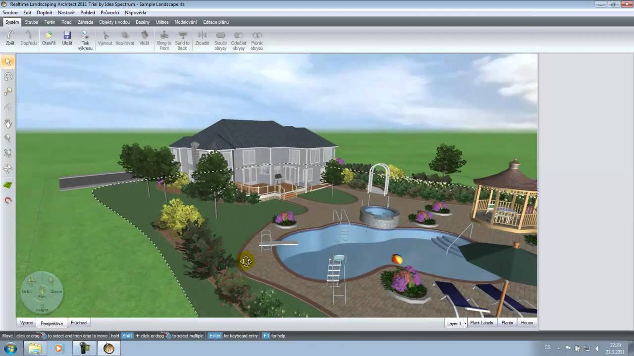 Realtime Landscaping Architect 2011 Cz Trial Youtube