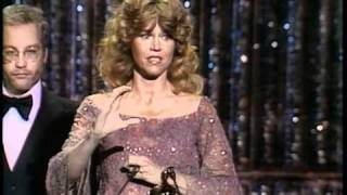 "Jane Fonda winning an Oscar® for ""Coming Home"""