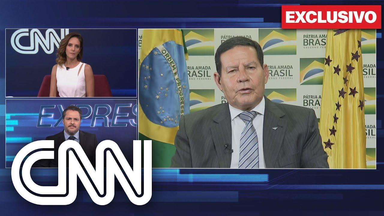 Exclusivo: Mourão diz que Bolsonaro e Forças Armadas não anseiam ruptura  institucional - YouTube
