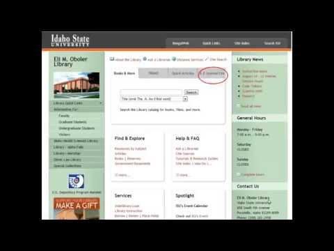 How to Request Articles- Idaho State University Library