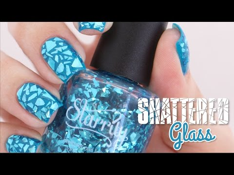 """Shattered Glass Nails Art 
