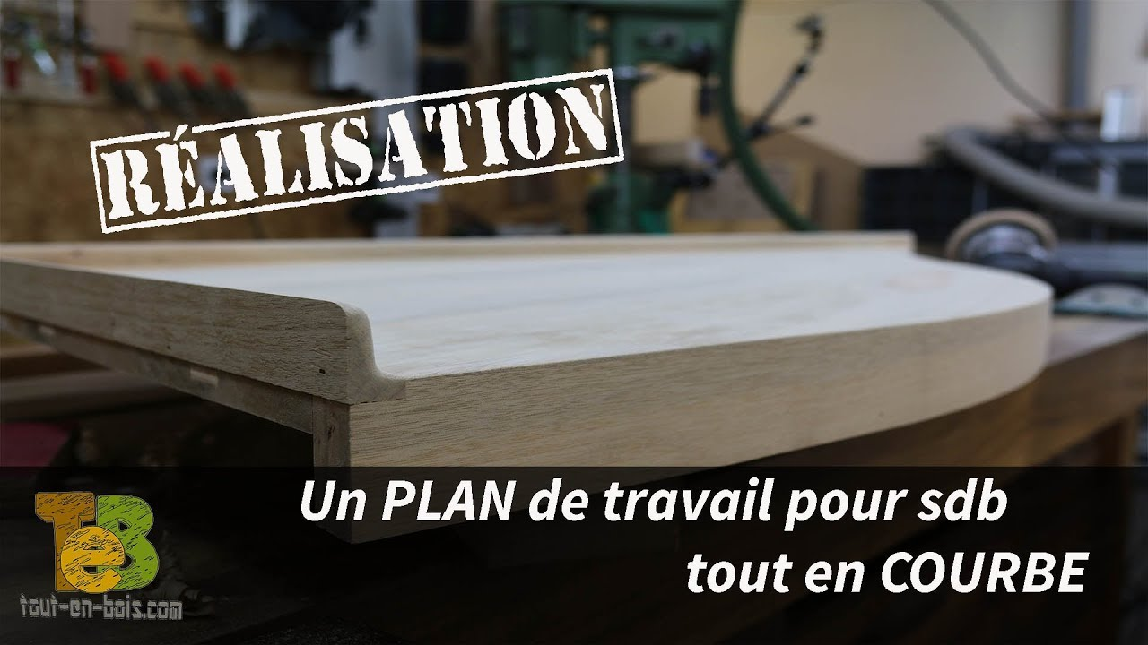 fabrication d 39 un plan de travail pour salle de bain technique de travail la toupie youtube. Black Bedroom Furniture Sets. Home Design Ideas