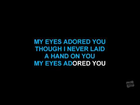 My Eyes Adored You in the style of Frankie Valli karaoke video with lyrics