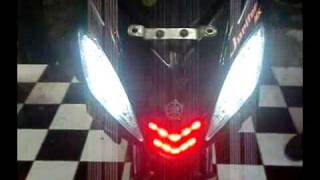 Senja n Sein Led Jupiter MX Lama Custom, 8 mode's Effect + Double Smile Led Moving 2 Ways