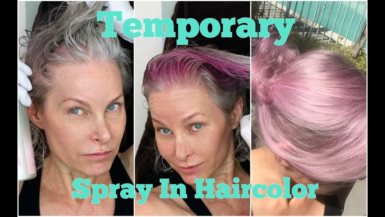 Temporary Spray In Hair Color Pink Youtube