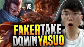 Faker is Ready to Beat Yasuo with Taliyah! - SKT T1 Faker Plays Yaliyah Mid! | SKT T1 Replays