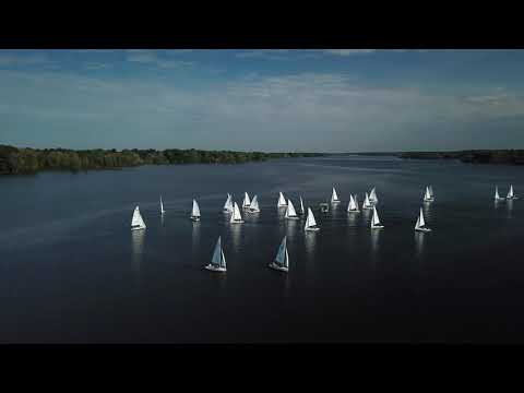 9-30-2018 Sailboat Races on Hoover, Drone View