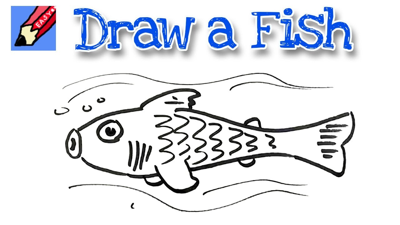 How To Draw A Cute Fish Real Easy For Kids And Beginners