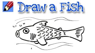 How to draw a cute fish Real Easy