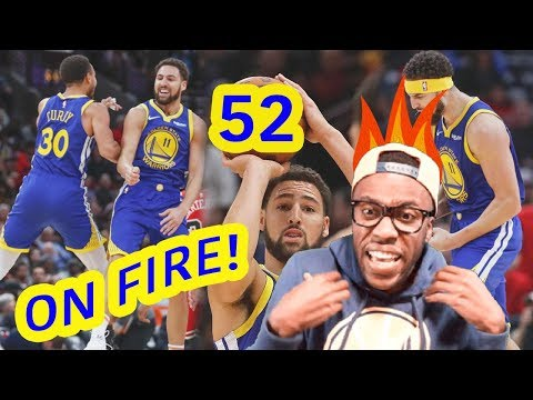 KLAY THOMPSON SPAZZES FOR 52 POINTS & BREAKS CURRY'S 3 RECORD?! STOP!! WARRIORS HIGHLIGHTS VS BULLS