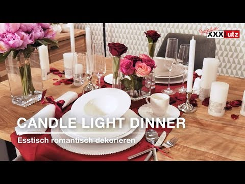 DIY Tischdeko - Candle Light Dinner - XXXLutz