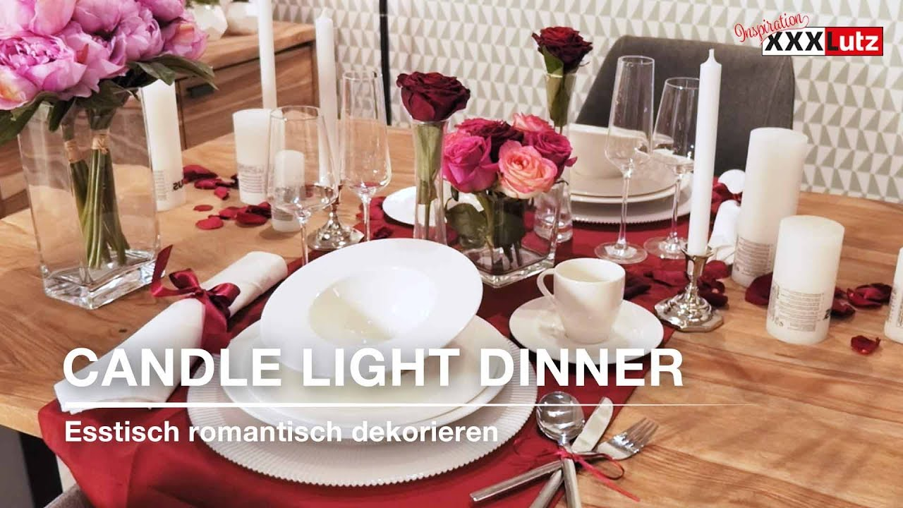 Diy Tischdeko Candle Light Dinner Xxxlutz Youtube