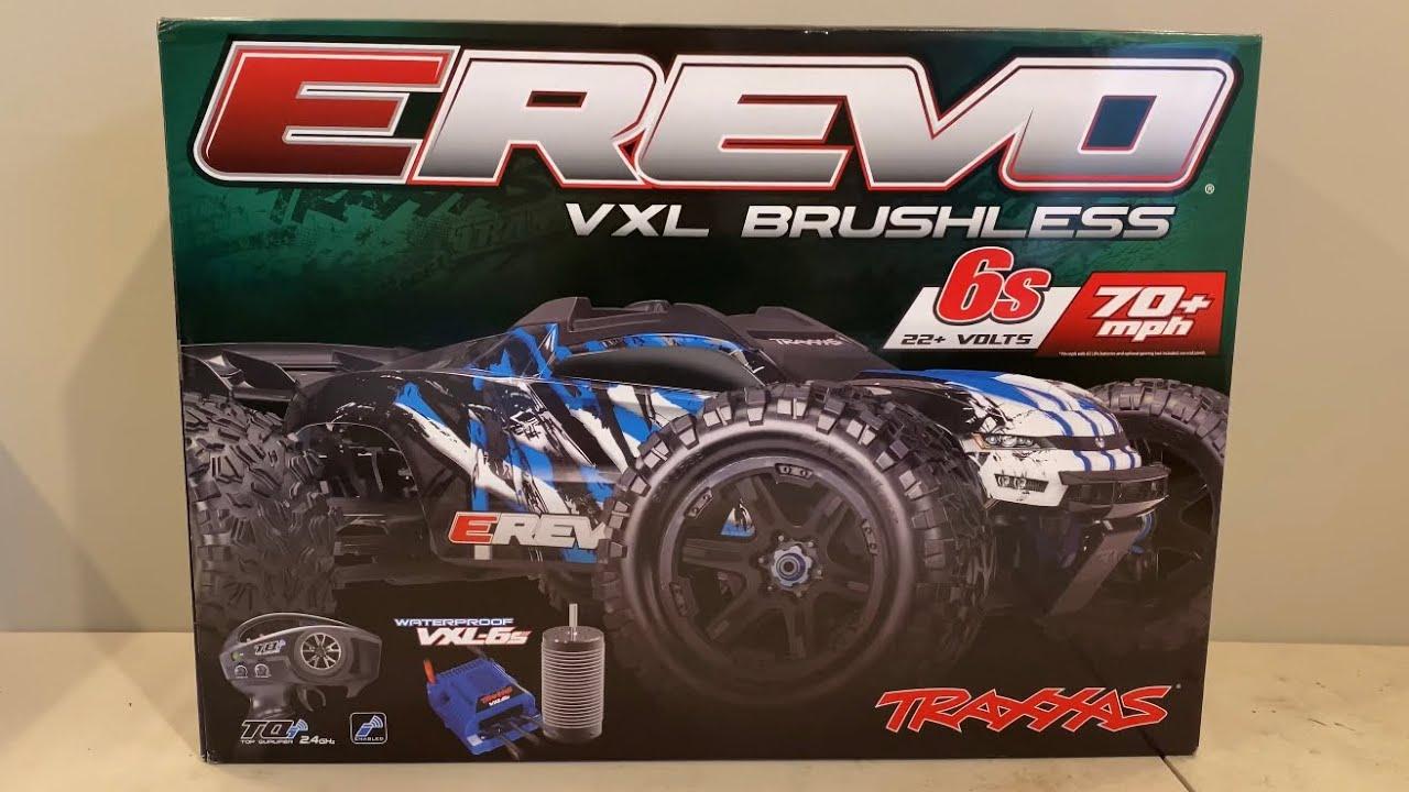 Traxxas E-Revo VXL Brushless Unboxing