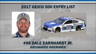 2017 GEICO 500 Entry List