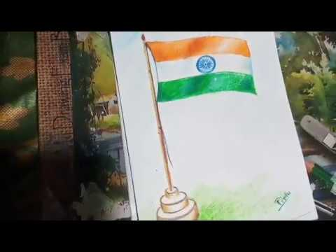 How to draw National Flag of India | Happy Independence Day
