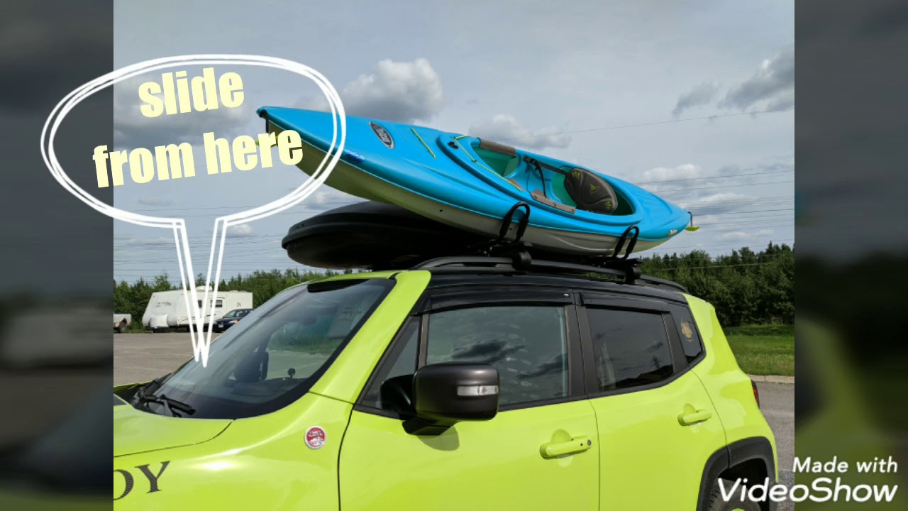 jeep renegade with j bars for kayak