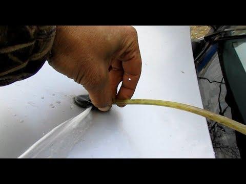 Веерные форсунки омывателя. Чистим обратной тягой.