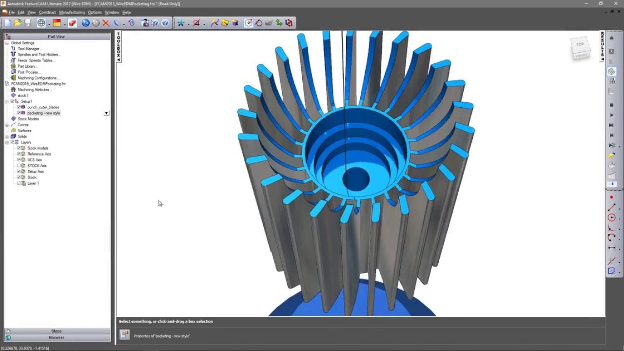Autodesk FeatureCAM - Wire EDM - YouTube