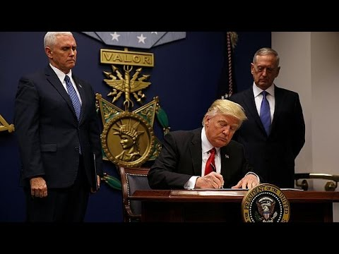 Trump signs ''extreme vetting'' executive order banning Syria refugees from entering the US…