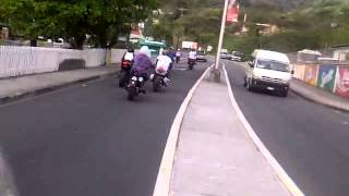 dominica bikers riding on a nice saturday afternoon
