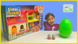 Big Little People Surprise & Sounds Home with Egg Surprises! Little People Toys