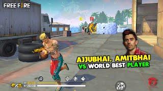 Ajjubhai94 and Amitbhai vs World Best Player Clash Squad OverPower Gameplay - Garena Free Fire