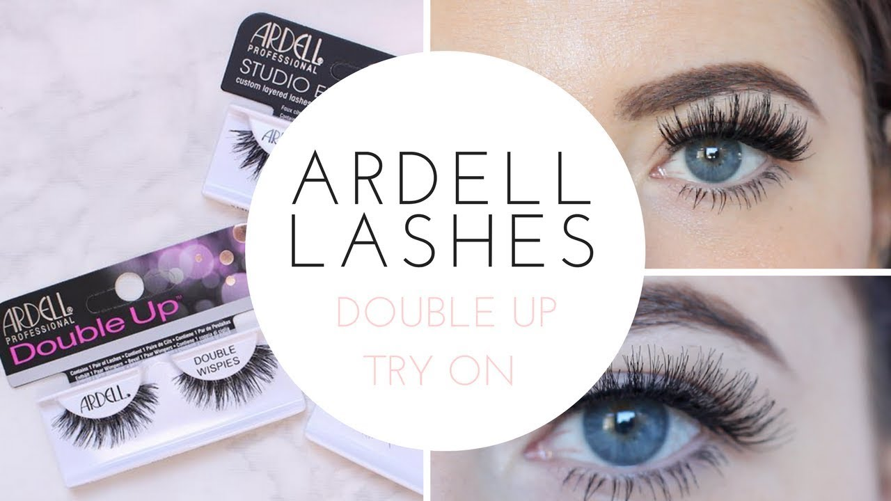 124c6543d03 ARDELL DOUBLE UP COLLECTION / LASH TRY ON - YouTube