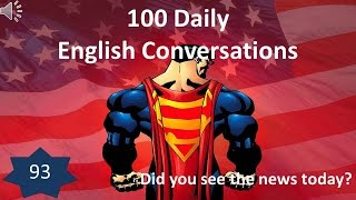 Daily English Conversation 93: Did you see the news today?