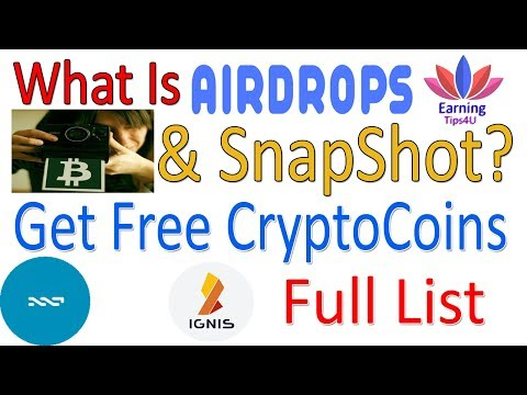 What Is Crypto Airdrop And Snapshot - With Full List In Hindi