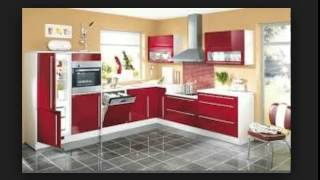Red Modern Kitchen Furniture Design Kitchen Cabinets