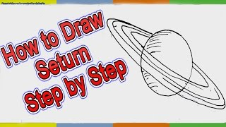 How to Draw Saturn Planet Step by Step for Kids Easy Lesson