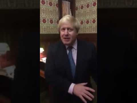 Boris Johnson reacts to Article 50 vote