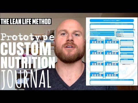 """Prototype Custom Nutrition Journal"" | Prototype Journal | Lean Life Method"