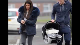 Rebekah Vardy steps out with husband Jamie and baby son Finley after breastfeeding selfie