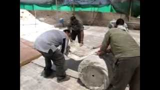 The Roman Mosaic from Lod, Israel: Rolling the Lod Mosaic in preparation of its conservation