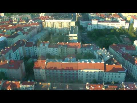 tour of and views of Prague from Zizkov Television Tower (Communist Tower) , Prague, CZ