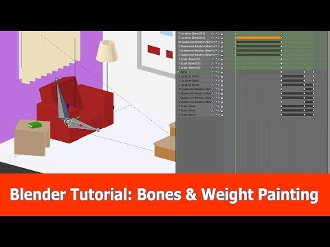 Blender Skeletal Animations & Weight Painting